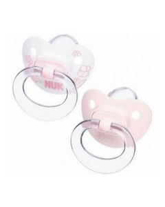 NUK Baby Rose Silicone Soothers (2 Pack) - 6-18mths