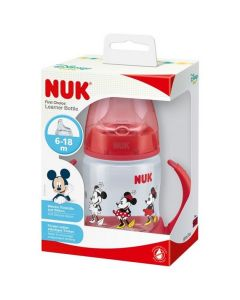 NUK First Choice 150ml Learner Bottle Mickey & Minnie