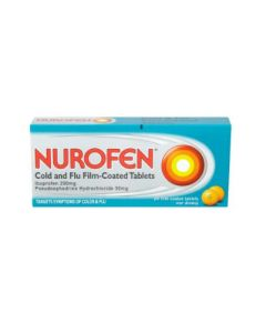 Nurofen Cold and Flu Film - 12 Coated Tablets (Image is of a 24 pack)