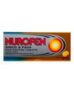 Nurofen Sinus & Pain 24 Film Coated Tablets