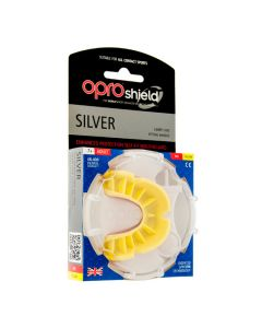 Opro Shield Self-Fit Mouthguard Silver (Red & Yellow) Adult