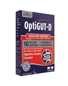 Natures Aid OptiGut D 10 Billion Bacteria 30 Capsules