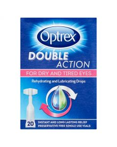 Optrex Double Action Monodose Dry Eyes 20's