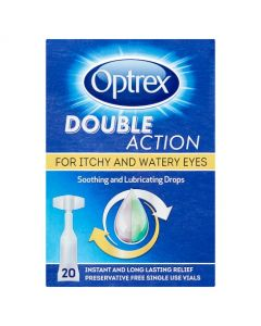 Optrex Double Action Soothing and Lubricating Drops Vials 20 x 0.5ml