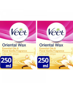 Veet Oriental Wax Essential Oils & Floral Vanilla Fragrance 250ml (2 Pack)