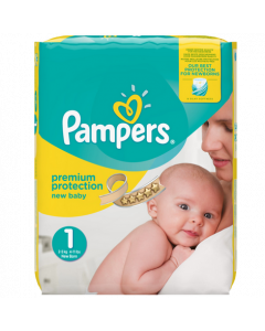 Pampers New Baby Nappies 2.5-5kg 22 Nappies