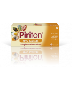 Piriton Allergy Relief Tablets Chlorphenamine 4mg 30s