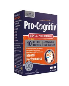 Natures Aid Pro-Cognitiv 10 Billion Bacteria Mental Performance 60 Capsules