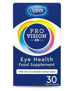 Optrex ProVision Eye Health Food Supplement 30 Liquid Capsules 1 Capsule a Day back