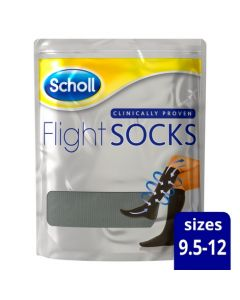 Scholl Flight Socks Black 1 Pair Shoe