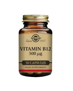 Solgar Vitamin B12 500 µg Vegetable Capsules 50s