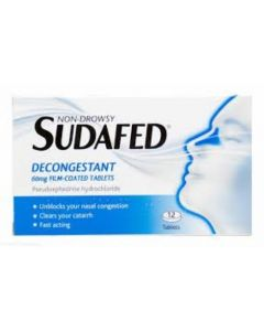 Sudafed Non-Drowsy Decongestant - 12 Tablets