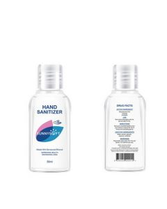 Sunny Soft Hand Sanitzer 30ml Front and back of bottle