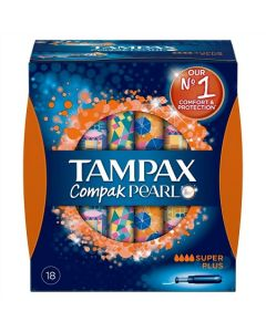 Tampax Compak Pearl Super Plus Applicator Tampons 18