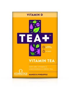 Vitabiotics TEA+ Vitamin D Vitamin Tea - Mango & Pineapple