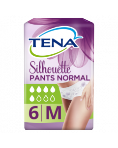 Tena Lady Silhouette Normal Pants Medium 6 Pack