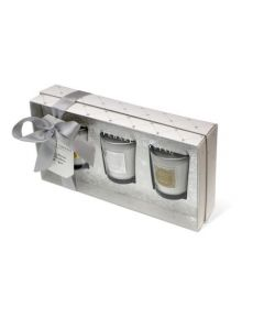 Tipperary Crystal White 3 Piece Scented Candle Set