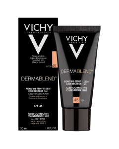 Vichy Dermablend Fluid Corrective Foundation Gold 45 30ml
