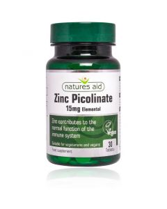Natures Aid Zinc Picolinate 15mg elemental 30 Tablets