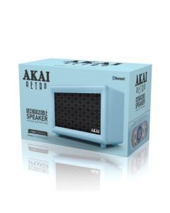 Akai Rechargeable Retro Bluetooth Speaker Blue