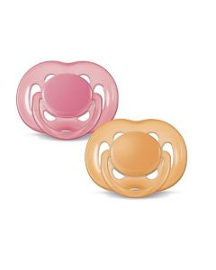 Avent-Freeflow-Silicone-Soothers-6-18-months-2pk