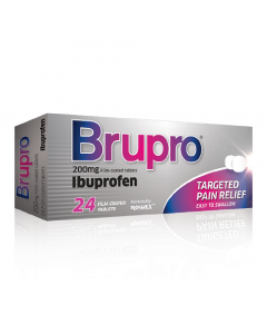 Brupro Tablets 200mg Ibuprofen 24 Tablets