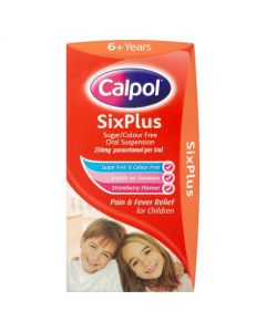 Calpol SixPlus Strawberry With Spoon - 60ml