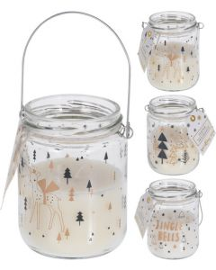 Candle In Glass Jar Gift 6x9cm