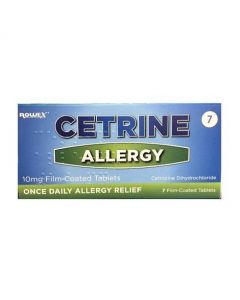 Cetrine Allergy 10mg Tablets 7 Tablets