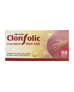Clonfolic Folic Acid 0.4mg (98 tablets)