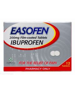 Easofen 200mg Ibuprofen 12 Tablets