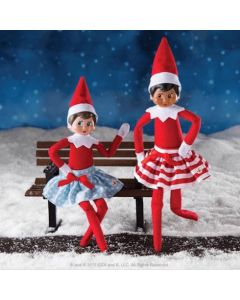 The Elf on The Shelf Twirling in the Snow Skirts Outfit. Elf's not included