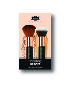 Fuschia Handbag Heroes Brush Set