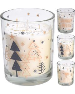 Golden Vanilla Scented Christmas Candle