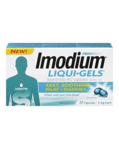 Imodium LiquiRelief - 12 Capsules