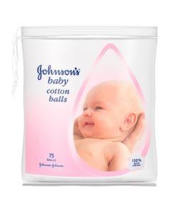 Johnsons Baby Cotton Balls 75pk
