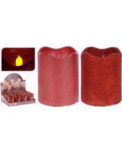 LED Candle With Timer Red 9cm
