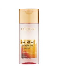 Loreal Age Perfect Refreshing Toner helps to smooth the skin and reduce the signs of fatigue in mature skin. Buy Loreal online in Ireland today.