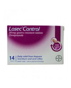Losec Control 20mg 14 Tablets