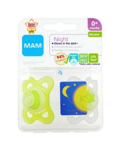 MAM Night Soothers 0m+ Green