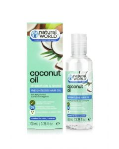 Natural World Coconut Oil Hydration and Shine Weightless Hair Oil 100 ml