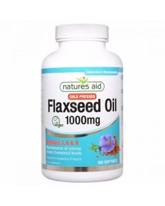 Natures Aid Flaxseed Oil 1000mg (Omega 3, 6 + 9) (180)