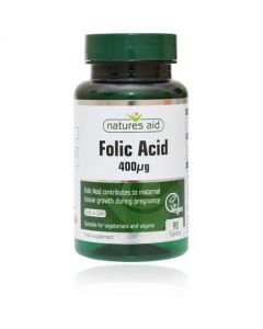 Natures Aid Folic Acid 400ug 90 Tablets