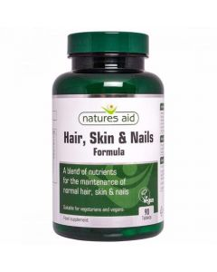Natures Aid Hair, Skin & Nail Formula 90 Tablets