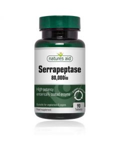 Natures Aid Serrapeptase 80000iu - Enterically Coated 90 Tablets