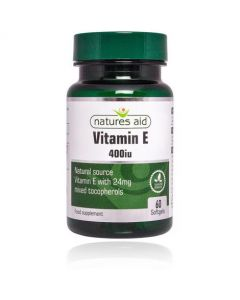 Natures Aid Vitamin E 400iu 60 Softgels