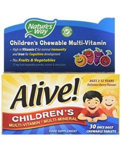 Natures Way Alive! Childrens Chewable 30