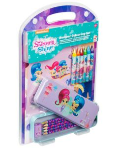 Nickeloden Shimmer and Shine Bumper Colouring Set