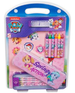 Nickelodeon Paw Patrol Bumper 15 Piece Stationery Pencil Case Gift Set