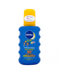Nivea Sun Kids Moisturising Sun Spray 50+ Very High 200ml